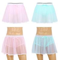 Men's Lace Sheer Briefs Knickers Sissy Crossdress Underwear Sexy Pouch Panties