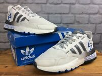 ADIDAS ORIGINALS MENS UK 8 EU 42 NITE JOGGER BOOST WHITE GREY TRAINERS RRP £115