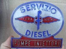 PLACCA SMALTATA FERA SERVIZIO DIESEL TORINO AUTO FORD FIAT CAMION 682 ESADELTA