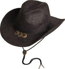 Hut Cowboyhut Country Western Schwarz Scippis OKLAHOMA Kinnriemen Conchas