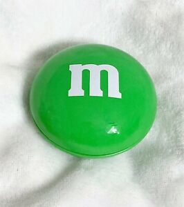 Mars, M&M's Green Candy Tin Circle Container, 3 x 3 Inches Colletible SHIPS FREE