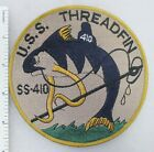 US NAVY USS THREADFIN SS-410 SUBMARINE PATCH (Tan) Made for Veterans After WW2