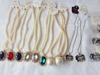 Joblot of 14 pcs Diamante Glass Crystal Pendants New wholesale