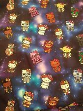 New! Custom 100% Woven Cotton Fabric Hello Kitty Star Wars In Stock! Per Yard