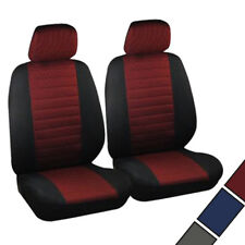 Housse de siège avant en polyester couvre siège universelle Noir Rouge F7233-2