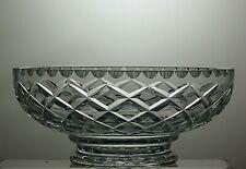 "CUT GLASS CRYSTAL SALAD FRUIT SERVING BOWL- DIAMETER 8"""