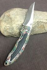 The Apache Knife Folding Locking Blade Multi-color New Box By Frost Cutlery