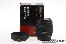 NIKON SIGMA AF 50mm f/2,8 Macro EX DG - SNr: 4054397