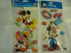 MICKEY AND MINNIE.  2 PACKS BY JOLEE'S. MICKEY AND MINNIE AND TROPICAL MINNIE !