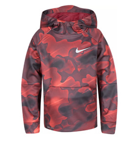 Nike Hoodie Little Boys Authentic Dry Therma Fleece All Over Camo Printed Red
