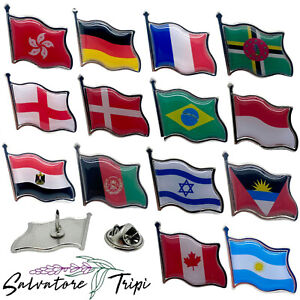 Country Flag Lapel Nation State BADGE Pin HIGH QUALITY Metal Enamel 200+ OPTIONS