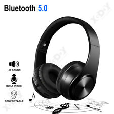 Foldable Wireless Stereo Bluetooth Headset Headphones+Mic For iPhone/Samsung/PC