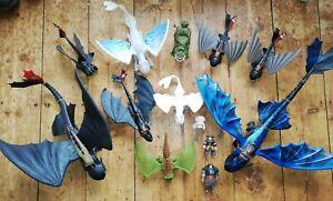 How To Train Your Dragon Big Bundle Toys Toothless Lightfury Meatlug Figures Lot