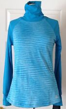 $68 NWT Womens RBX Performance Long Sleeve Running Shirt Turtleneck Blue S