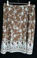 BANANA REPUBLIC Boho Peasant Skirt Fully Lined Cotton / Silk SIZE 10