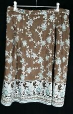BANANA REPUBLIC Boho Peasant Skirt Fully Lined Cotton / Silk SIZE 10