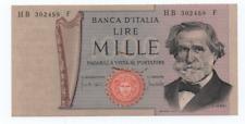 REPUBBLICA D'ITALIA 1000 LIRE G VERDI II° TIPO DECR 5 AGOSTO 1975 SPL++