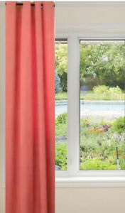 """IKEA MERETE Curtain One 1 Single Panel 57x98"""" Grommets Coral Salmon 404.436.80"""