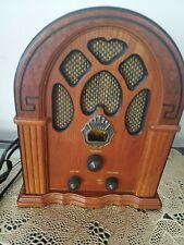 Crosley CR31 Companion retrò AM/FM Radio-Noce & Burl Cattedrale armadio!