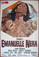 BLACK EMANUELLE Italian 2F movie poster 39x55 LAURA GEMSER 76
