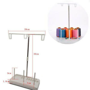 3 Spool Stand Holder Multifunction Embroidery Thread Quilting Rack Sew Hom`AU