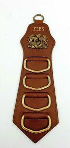 Lancer Steerhide Leather Vintage Tie Holder Australian Made