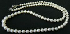 "MIKIMOTO 18"" GRADUATED CULTURED PEARL NECKLACE 3mm-6mm"