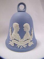 Princess Diana and Charles Royal Wedding Wedgwood Blue Jasperware Bell July 1981