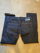G Star Attacc Straight  Mens Jeans  33x32 Button Fly Closure