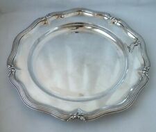 Nice Crested Victorian Sterling Silver Dinner Plate 1838/ Dia 24.5 cm/ 615 g