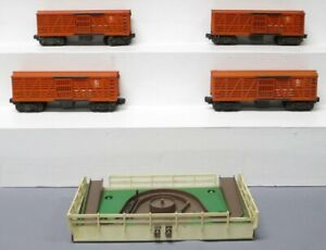 Lionel Vintage O 3656 Operating Cattle Cars & Platform [5]