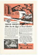 1948 Vintage Original TCMA Trailer Coach Mfrs. Ad 40s She Shed Man Cave Decor.