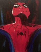 "Beautiful ""Spider-Man"",  Original Oil Art Painting On Canvas"