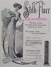 PUBLICITE PARFUM L. LEGRAND STILLI FLORE PARFUMERIE ORIZA DE 1910 AD ART DECO