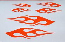 FLAME VINYL DECALS BIKE HELMET STICKERS  SET OF 3 NEW