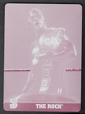 BEST OF WWE 2013 (Topps) PRINTING PLATE Card TOP TEN CHAMPIONS #3 THE ROCK 1:14K
