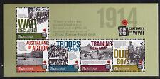 2014 Centenary of WW1 1914-1918 - MUH Mini Sheet