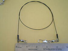 """15 PCS. S. STEEL WIRE SPINNER LEADER 12"""",15"""",18"""" 120 LBS. TEST, 5 PCS. EACH SIZE"""
