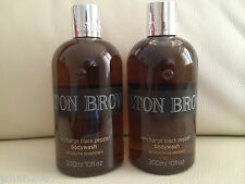 Molton Brown 2 x 300ml Re-charge Black Pepper Body Wash BRAND NEW *LOOK*