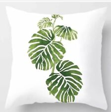 Palm Leaves Green Polyester Cushion Cover Home Decor AUS SELLER