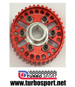 Pair of Ford Cosworth YB Sierra RS Escort Vernier pulleys in red