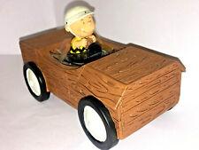 HALLMARK Peanuts CHARLIE BROWN BOX CAR FIGURINE Water Ball SNOW GLOBE Rare HTF