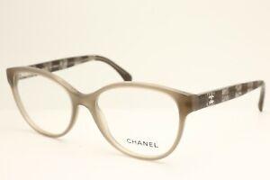 New Chanel 3292 c.1416 Beige Full Rim Cat Eye Frame Eyeglasses Clear Lenses 52mm