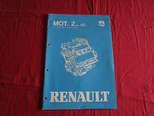RENAULT manuel de réparation moteur essence 6 cylindres en V type Z 7 V  / 1983