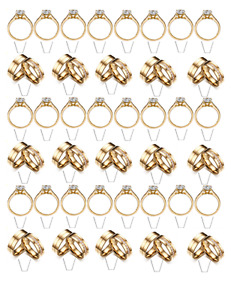 39 standing ENGAGED cupcake toppers  -Wafer/ Rice Paper -Cupcake Topper