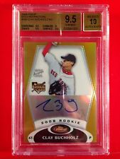 2008 Topps Finest Clay Buchholz Gold Refractor Autograph #'d 44/50  BGS 9.5/10