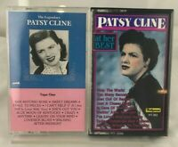 """Lot of (2) Patsy Cline Cassette Tapes - """"At Her Best"""" """"Legendary"""" Crazy"""