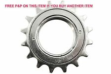 16 TEETH SILVER BMX FIXIE FREEWHEEL SPROCKET REAR COG SINGLE SPEED BIKE CHROME