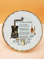 """Vintage My Kitchen Prayer Wall Collectible Hanging Plate 7.5"""""""