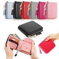 Women PU Leather Tassel Square Mini Wallet Zip Coin Purse Card Holder Clutch Bag